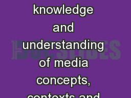 AO1:  Demonstrate knowledge and understanding of media concepts, contexts and critical debates. PowerPoint PPT Presentation