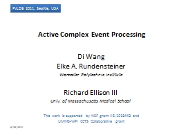 Active Complex Event  Processing