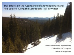 Trail Effects on the Abundance of Snowshoe Hare and Red