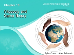 Oligopoly and  Game Theory