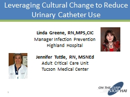 Leveraging Cultural Change to Reduce Urinary Catheter