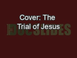 Cover: The Trial of Jesus