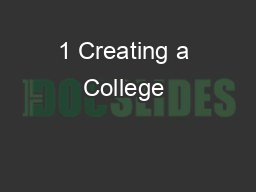 1 Creating a College & Career Going Culture