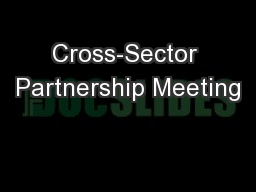 Cross-Sector Partnership Meeting
