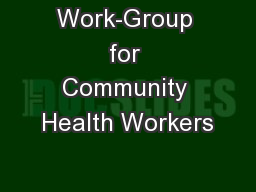 Work-Group for Community Health Workers