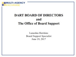 DART BOARD OF DIRECTORS and
