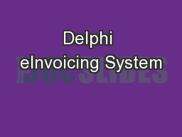Delphi eInvoicing System