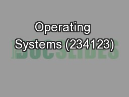 Operating Systems (234123)