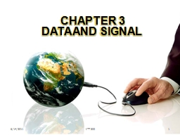 CHAPTER 3 DATA AND SIGNAL