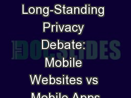 The Long-Standing Privacy Debate: Mobile Websites vs Mobile Apps