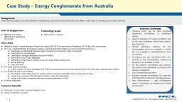 Case Study – Energy Conglomerate from Australia