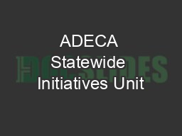 ADECA Statewide Initiatives Unit