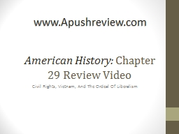 American History:  Chapter