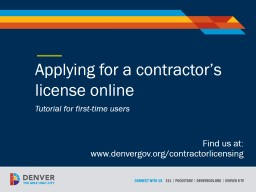 Applying for a  contractor's license online