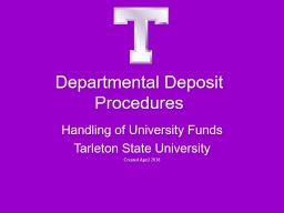 Departmental Deposit Procedures