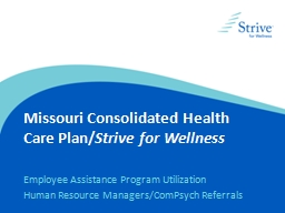 Missouri Consolidated Health Care Plan/
