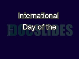 International Day of the