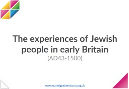 The  experiences  of Jewish people in PowerPoint PPT Presentation