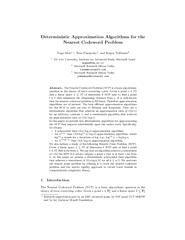 Deterministic Approximation Algorithms for the Nearest