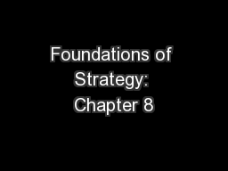 Foundations of Strategy: Chapter 8