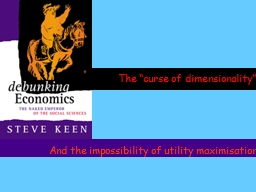 """The """"curse of dimensionality"""" PowerPoint PPT Presentation"""