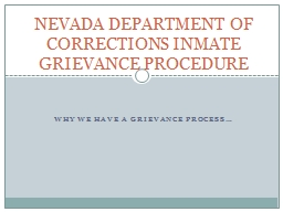 Why we have a grievance process…