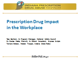 Prescription Drug Impact
