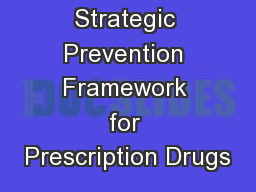 SPF-Rx Strategic Prevention Framework for Prescription Drugs