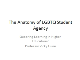 The Anatomy  of  LGBTQ Student Agency