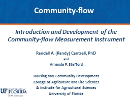 Introduction and Development of the Community-flow Measurement Instrument