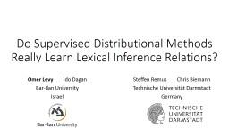 Do Supervised Distributional Methods Really Learn Lexical Inference Relations?