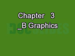 Chapter   3 _B Graphics