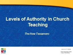 Levels of Authority in Church Teaching