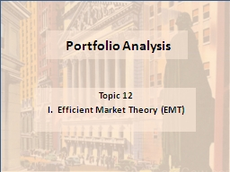 Portfolio Analysis Topic 12
