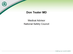 Don Teater MD Medical Advisor