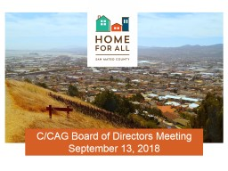 C/CAG Board of Directors Meeting