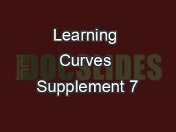 Learning Curves Supplement 7