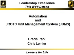 JROTC Unit Management System (JUMS)