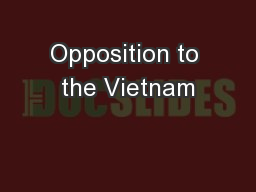 Opposition to the Vietnam