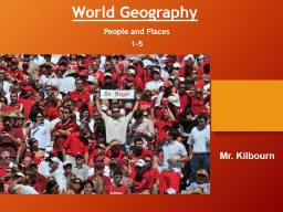 World  Geography People and