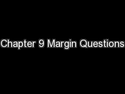 Chapter 9 Margin Questions