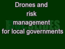 Drones and risk management for local governments
