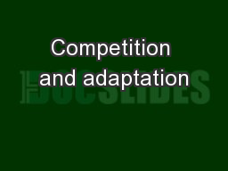 Competition and adaptation