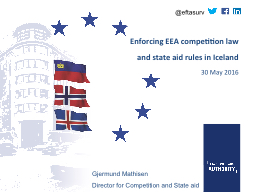 Enforcing EEA competition law and state aid rules in Iceland