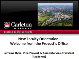 New Faculty Orientation: