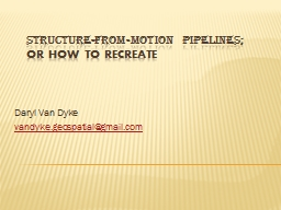Structure-from-Motion Pipelines;