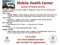 Mobile Health Center