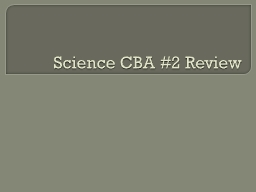 Science CBA #2 Review Force and Motion