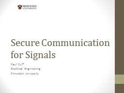 Secure Communication for Signals