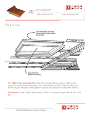 Data Sheet  STYLE  CROWN MOLDING SERIES  WOOD COFFERS